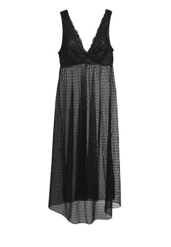 Valentine Secret black Noa night gown VA590US66NYVID_1