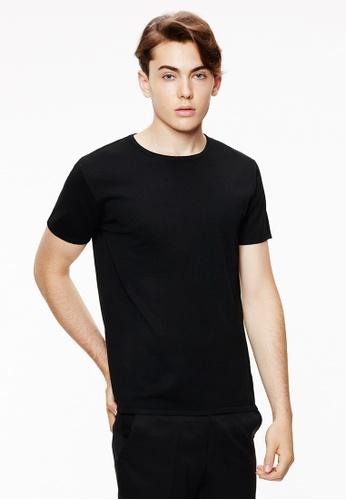 Life8 black Formal basic u-neck plain sweatshirts-11119-Black LI283AA0GM4KSG_1