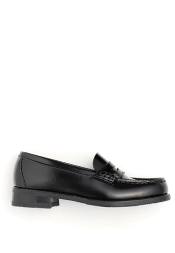 HARUTA 黑色 經典樂福皮鞋 968FCSH784B170GS_1