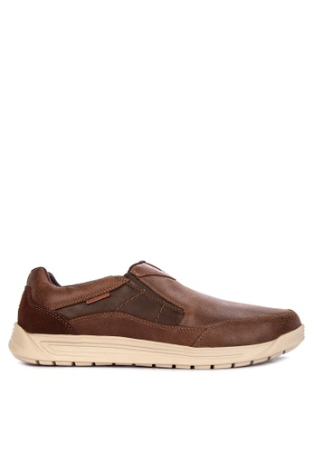 Rockport brown Randle Slip On Lea 7D80CSH337E1E9GS_1