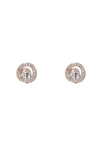 SWAROVSKI gold Generation Pierced Stud Earrings 2640EAC62DD9F3GS_1
