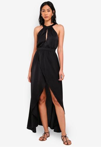 OVS black Keyhole Halter Dress 6C93EAA59D1297GS_1