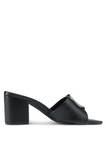 Bata black Slip On Heels 13A58SH21C4242GS_1