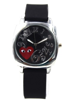 Play Curly Number Silicon Stap Watch 1087G
