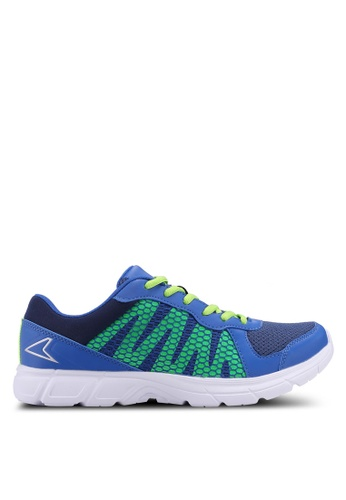 Power blue and navy Power Running Shoes F73B5SH5F7494FGS_1