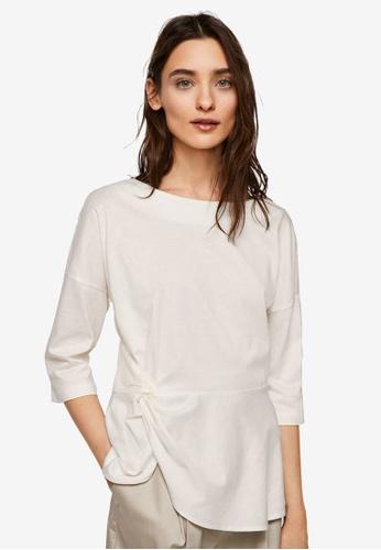 Mango white Knot Detail T-Shirt B6FA2AA9B738C3GS_1
