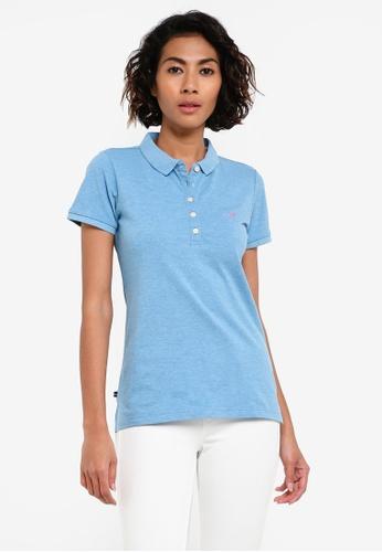 REGATTA blue Knitted Collar Pique Polo Shirt RE699AA0RUQ2MY_1