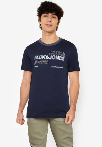 Jack & Jones navy Art Tee Short Sleeves Crew Neck Tee 68CD8AA583570DGS_1