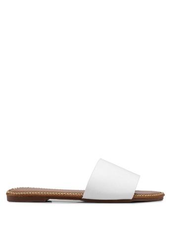 Mimosa white Chain Detail Slip On Sandals E7736SH084F76CGS_1