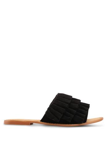 Vero Moda black Cammi Leather Sandals F134FSHE80148AGS_1