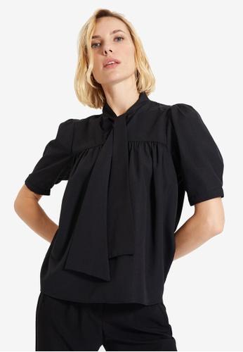 Trendyol black Short Sleeve Blouse 7FF54AA09191DFGS_1