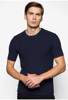 Short Sleeve Pearl Knit Pullover