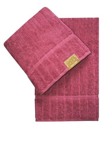 Cotton Fields pink Cotton Fields Bath Towel Stripes 6CF11HL934F9CEGS_1