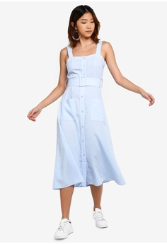 3d484eb981 11% OFF Something Borrowed Button Down Fitted Dress with Self Tie HK$  279.00 NOW HK$ 249.00 Sizes XS S M L XL