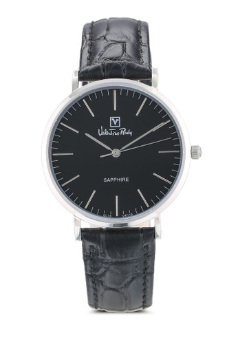 Valentino Rudy black Valentino Rudy Jam Tangan Wanita - Black Silver - Leather Strap - VR119-2332 6B5BEAC0B5ADB9GS_1