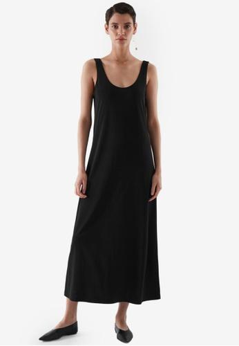 COS black Midi Slip Dress A62FEAA5FA952AGS_1