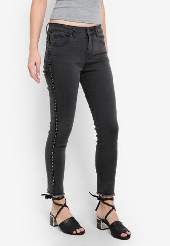 ZALORA black Denim Stud Detail Skinny Jeans 9BA17ZZ768148EGS_1