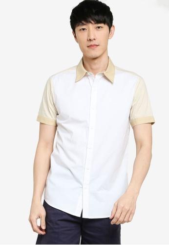 ZALORA BASICS 多色 Short Sleeve Colourblock Shirt 44340AAB9F9ACBGS_1