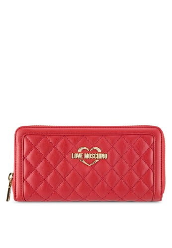 Love Moschino red Portafogli Quilted Wallet LO478AC0SEKQMY_1