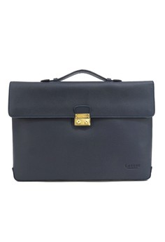 Lotuff One Buckle Classical Briefcase - Navy