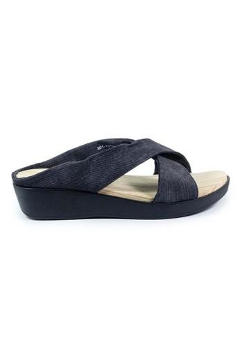 BNC black Slide Sandals 60000SHF91475DGS_1
