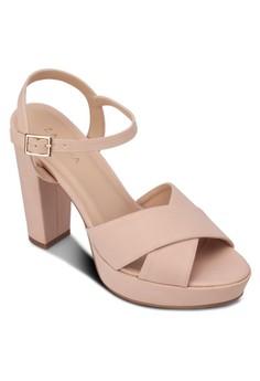 Cross Strap High Heel Sandals