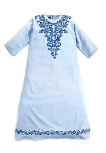 Versail blue Versail Baju Muslim Tunic Ladies Bordir Bunga Biru POOO9 9BB9DAAA55178FGS_1