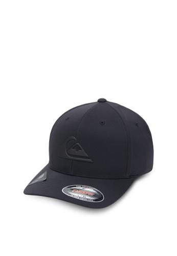 Quiksilver black Amped Up Flexfit Cap 22B94ACAC0EC55GS_1
