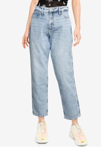 Hollister blue High Rise Mom Jeans B9112AAB46C736GS_1