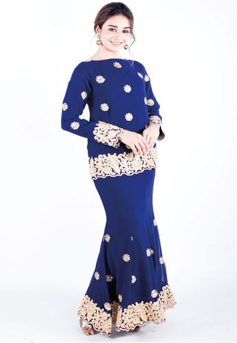 Madhuri Sapphire Navy Blue from Ann Khan Exclusive in Blue