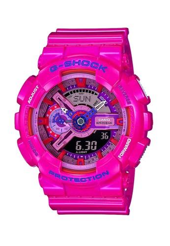 G-Shock pink Casio G-SHOCK Jam Tangan - Pink - Resin - GA-110MC-4ADR D6F0AAC8E791E0GS_1