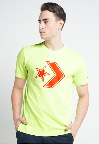 Converse green Outlined Star Chevron Tee F7D7AAAF3B490DGS_1
