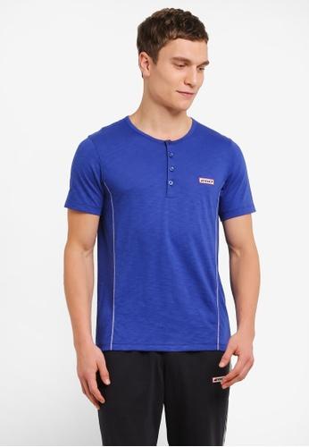 2GO blue Grandad Collar T-Shirt 2G729AA0S5ZNMY_1