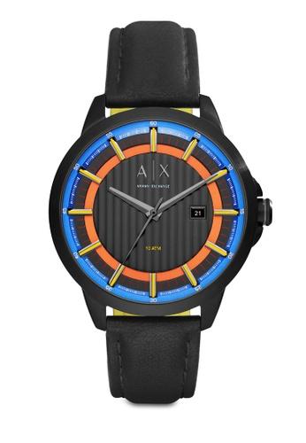 Armani Exchange black Armani Exchange Black Leather Watch AX2265 AR162AC55NEMMY_1