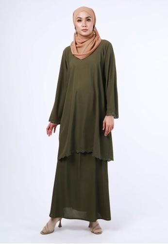 Inhanna green AYU Kurung Seaweed Green 2FB1FAA98D3B55GS_1