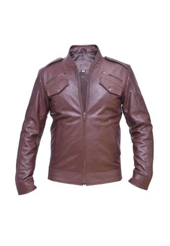 Oxhide brown Oxhide Leather Jacket Brown FK02 8CBA1AA35CEC97GS_1