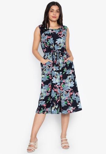 95a1348651 Gene M. Gozum blue Azul Garden Linen Sleeveless Dress E1811AAB37A6E4GS 1