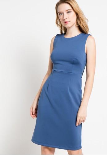 (X) S.M.L blue Beyza Dress XS330AA68ZEDID_1