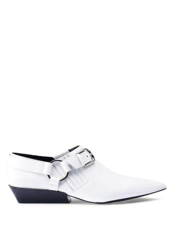 Calvin Klein 白色 Ellen 平底鞋 9F7EDSHF5F9774GS_1