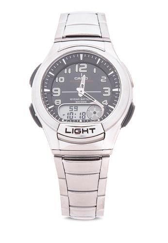 Casio silver Ana-Digi Watch AQ-180WD-1BVDF CA076AC17LRQPH_1