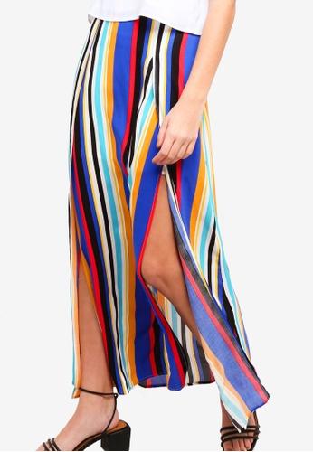 Something Borrowed multi High Slit Self Tie Maxi Skirt 765D1AAB386D7CGS_1