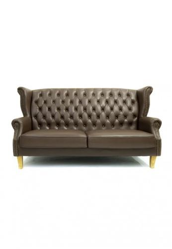 Choice Furniture brown Choice Furniture - Bellamy Chesterfield Sofa 30A09HLAD471A8GS_1