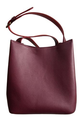 72 SMALLDIVE red 72 Smalldive Womens Hobo Handbag Tote with 2 Color Tone Strap Bordeaux-Red 71326AC0BD7995GS_1