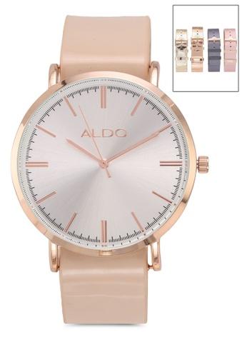 ALDO beige Sciara Multistrap Watch 62509ACEE0CBC6GS_1