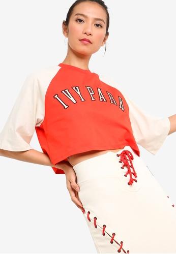 Ivy Park 紅色 LOGO短袖短版T恤 B0260AA8D9851AGS_1