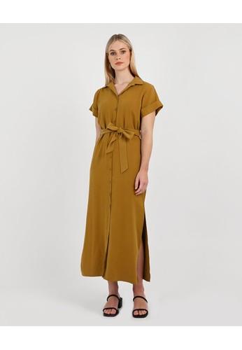 FORCAST yellow FORCAST Jenny Shirt Dress BEB4EAA25F1FBCGS_1
