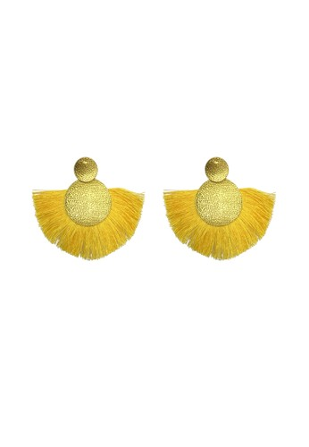 La Miina gold Luce Tassel Earrings 54338AC448DD47GS_1