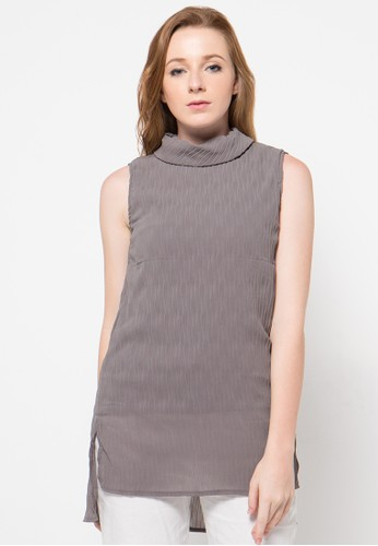 Raspberry grey Kiara Sleeveless Blouse RA572AA69OVAID_1