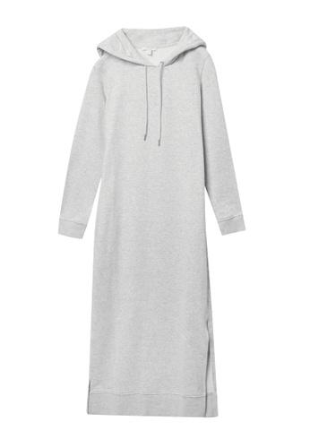 COS grey Split Seam Hooded Sweatshirt Dress 102C9AAA826AF6GS_1