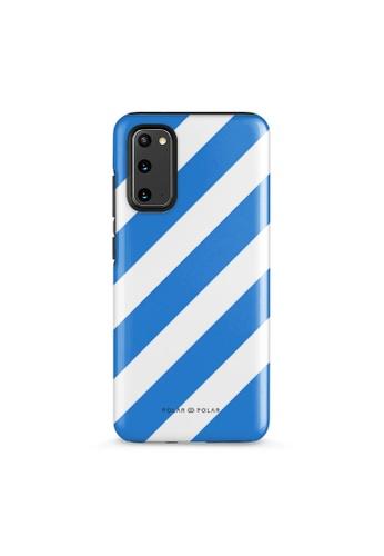 Polar Polar blue Blue Slash Dual-Layer Tough Case Glossy For Samsung S20 D3F5DAC2536943GS_1